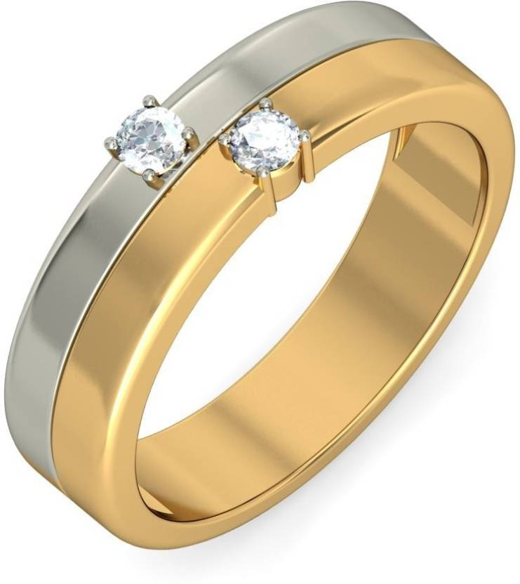 BlueStone The Dual Sonata for Him 18kt Diamond Yellow Gold ring