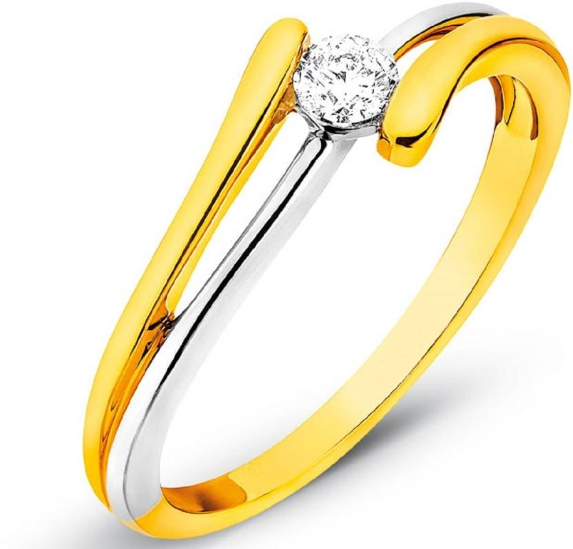 Suvam Jewels Sterling Silver Yellow Gold Ring