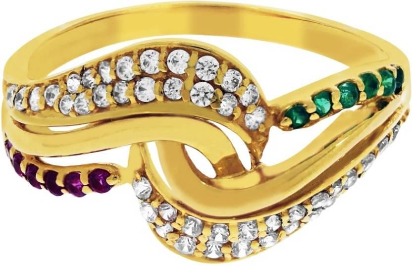 Kalyan Jewellers Siginity Ladies 22kt Cubic Zirconia Yellow Gold