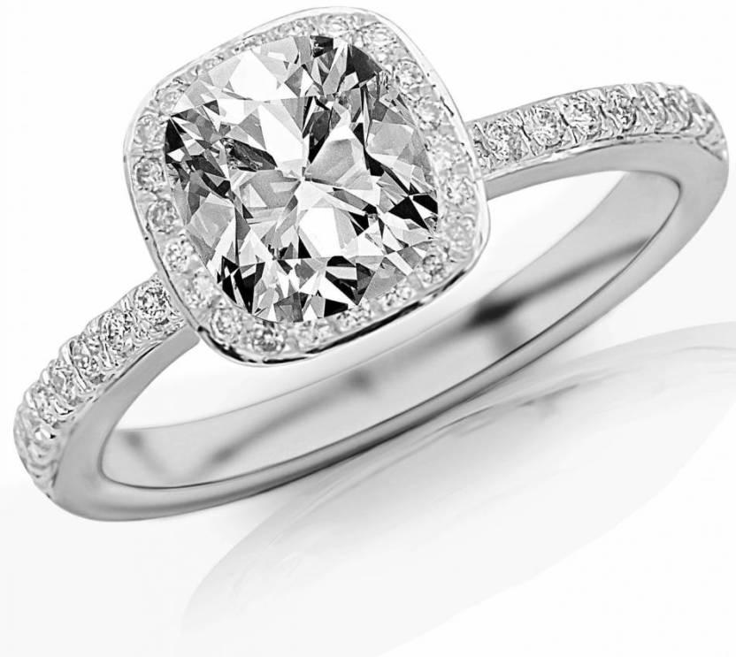 Kiara Jewellery KIR0342 Silver Cubic Zirconia Rhodium Ring