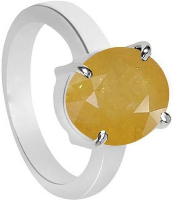 11 Astro Gems 5 5 Crts Yellow Sapphire pukhraj Silver Sapphire