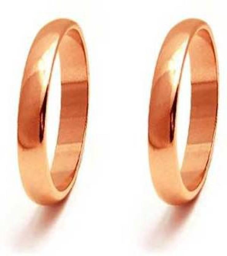 Sitare Set of 2 Pure Tamba Premium Quality Copper Ring Set Price in