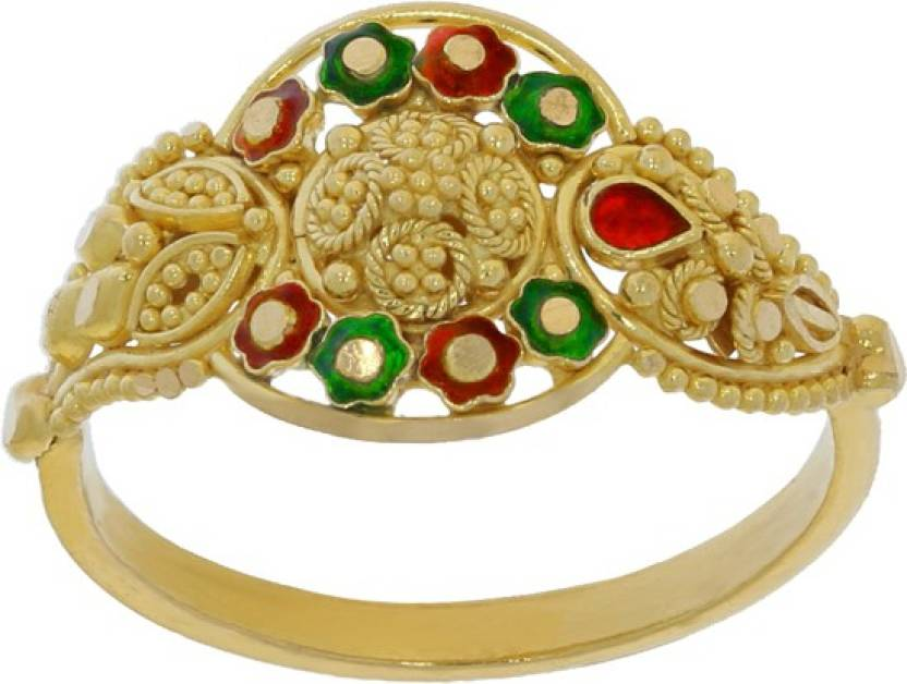 Kalyan Jewellers Calcutta fancy 22kt Yellow Gold ring Price in ...