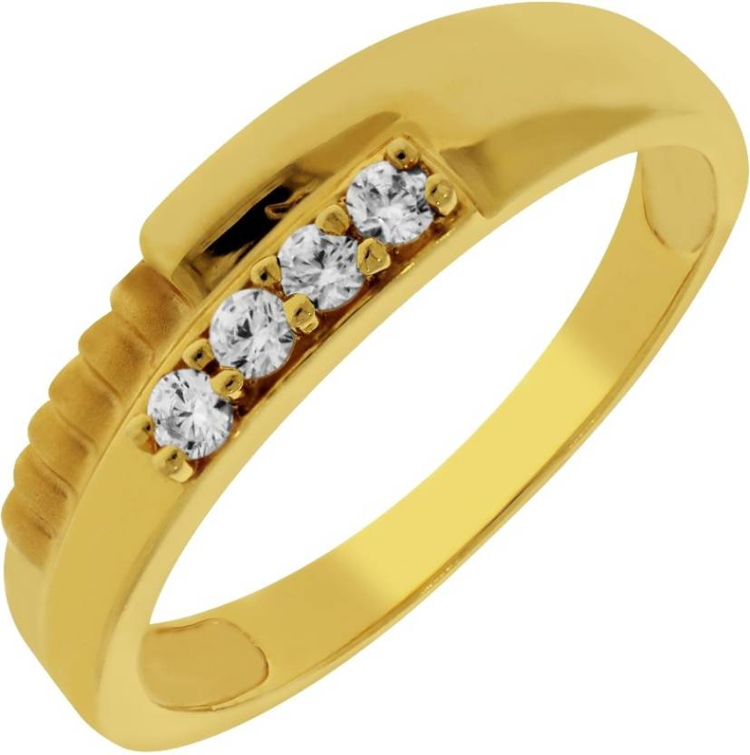 Kalyan Jewellers Couple ring 22kt Cubic Zirconia Yellow Gold