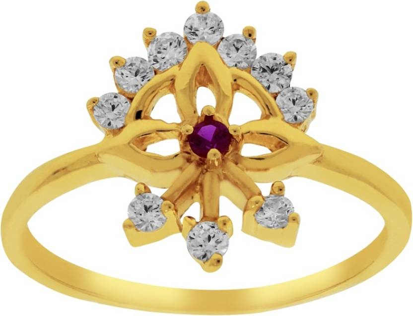 Kalyan Jewellers Signity Ladies 22kt Cubic Zirconia Yellow Gold ...