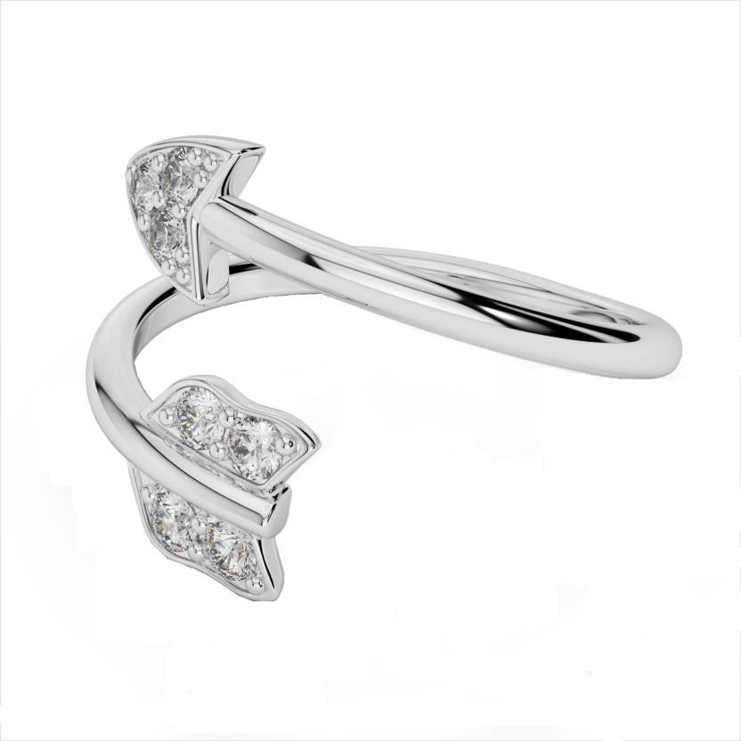 Alluring Silver Swarovski Crystal Rhodium Ring