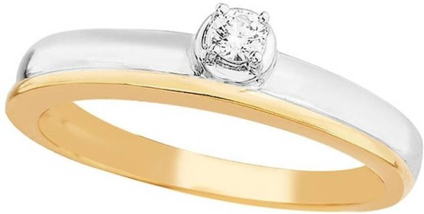 D'damas 18kt Diamond Yellow Gold ring Price in India - Buy D