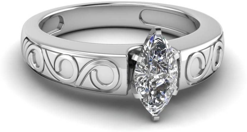 Roop Jewellers Women Unique Wedding Bands Sterling Silver