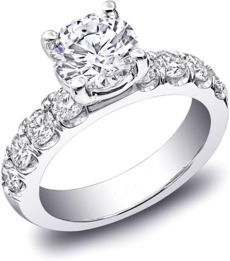 Zenia Silver Swarovski Crystal, Swarovski Zirconia Platinum Ring