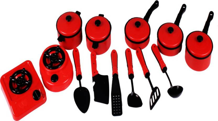 Kanchan Toys Kitchen Set Red Kitchen Set Red Shop For Kanchan