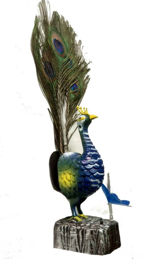 China Peacock With Real Feather Light and Sound - Peacock