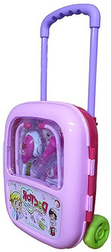 4eb0b119c8ad6 Hum Enterprise Light   Sound Musical Family Doctor Trolley Play Set Medical  Toys - Pink