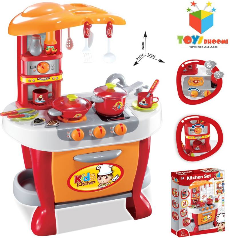 Toys Bhoomi Interactive Little Chef Kids Kitchen Play Set With Light Sound For