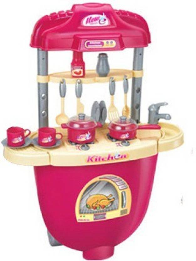 Xiong cheng portable kitchen set trolley with light and for Kitchen set portable