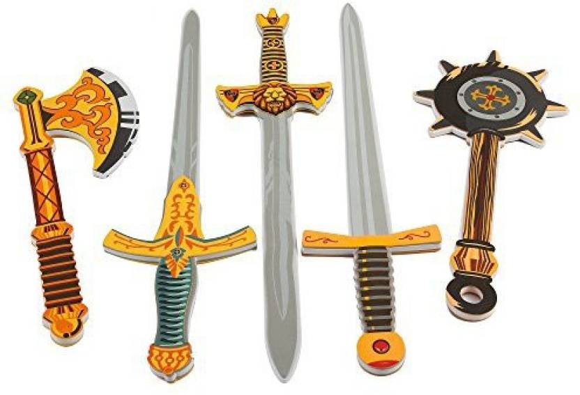 Liberty Imports Warrior Foam Swords & Weapons 5 Pack Extra