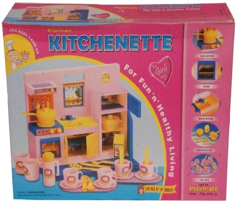 Playmates Toys Kids Kitchen Set Pmt