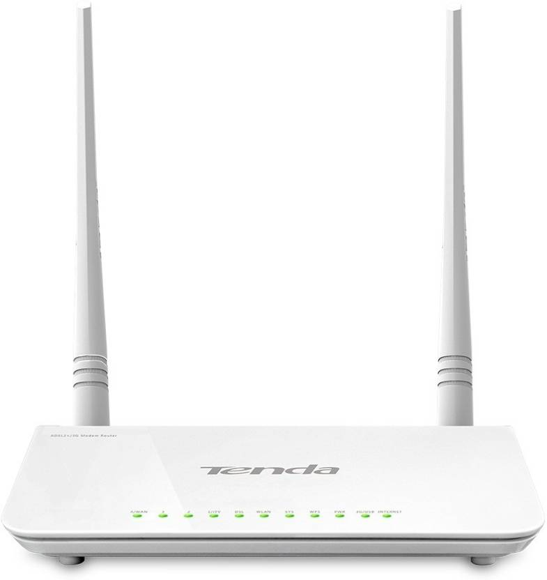Tenda TE D-303 N300 ADSL2+ Modem Router with USB port Router