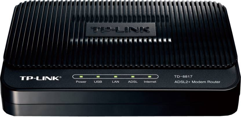 TP-LINK TD-8817 ADSL2 Ethernet/USB Wired with Modem Router