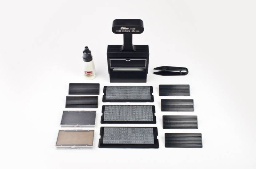 Shiny Self Inking Printing Making S 600 Rubber Stamp Kit Medium Black