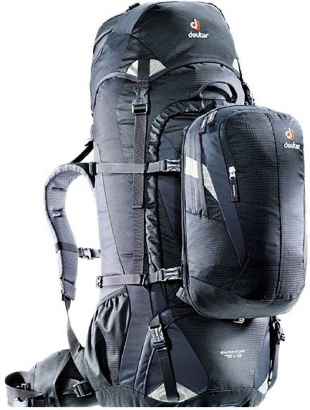e21b6a4f07477 Deuter Quantum 70 + 10 hiking backpack Rucksack - 70 L black-silver ...