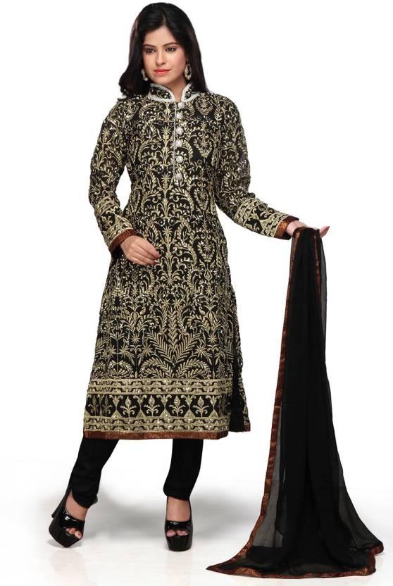 7918bdc52 Utsav Fashion Embellished Kurta   Churidar - Buy Black Utsav Fashion ...