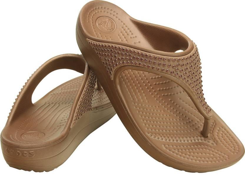 8180a3d43 Crocs Women Brown Flats - Buy 203128-854 Color Crocs Women Brown Flats  Online at Best Price - Shop Online for Footwears in India