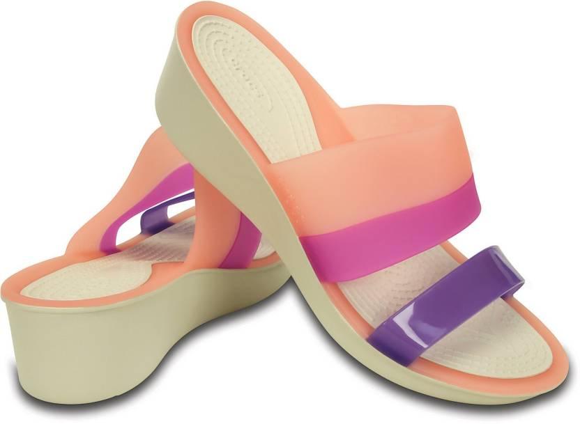 c63aae10d6c Crocs Women Orange Wedges - Buy 200031-6KM Color Crocs Women Orange Wedges  Online at Best Price - Shop Online for Footwears in India