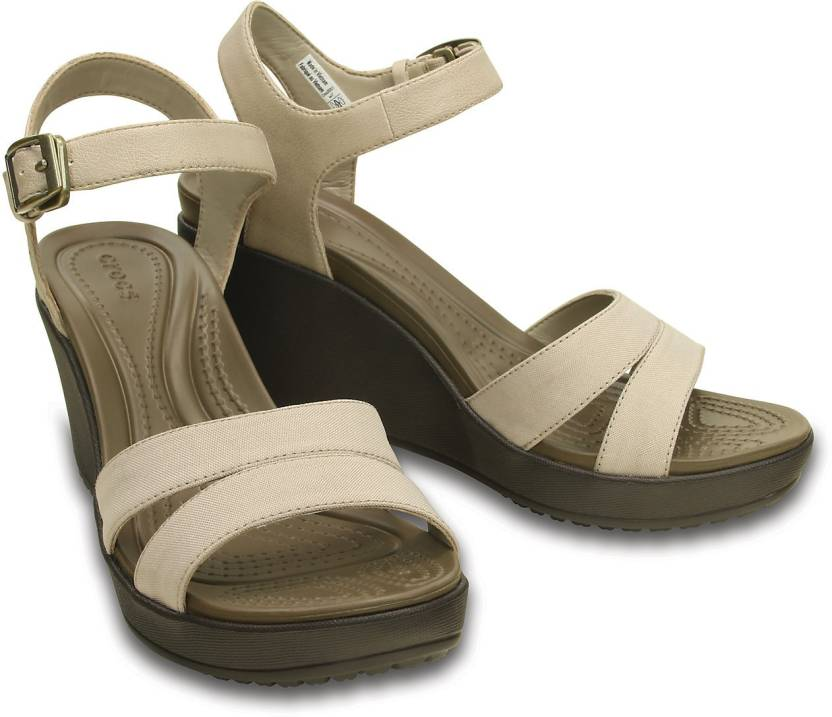 1260f2797a013a Crocs Women Beige Wedges - Buy 202511-2H9 Color Crocs Women Beige Wedges  Online at Best Price - Shop Online for Footwears in India