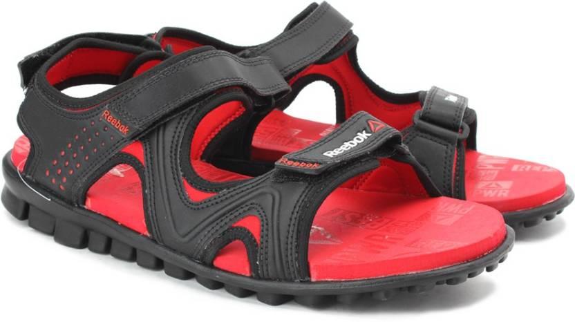 Reebok Men BLK/RED RUSH Sports Sandals