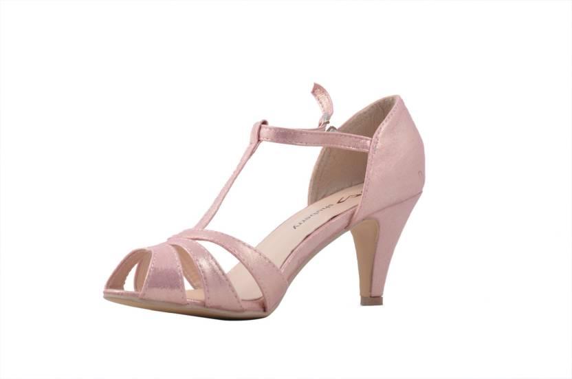 95e6311448ec Shuberry Women PINK Heels - Buy PINK Color Shuberry Women PINK Heels Online  at Best Price - Shop Online for Footwears in India