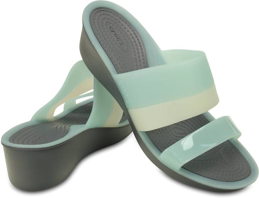 1a084917bbc Crocs Women Blue Wedges - Buy 200031-455 Color Crocs Women Blue Wedges  Online at Best Price - Shop Online for Footwears in India