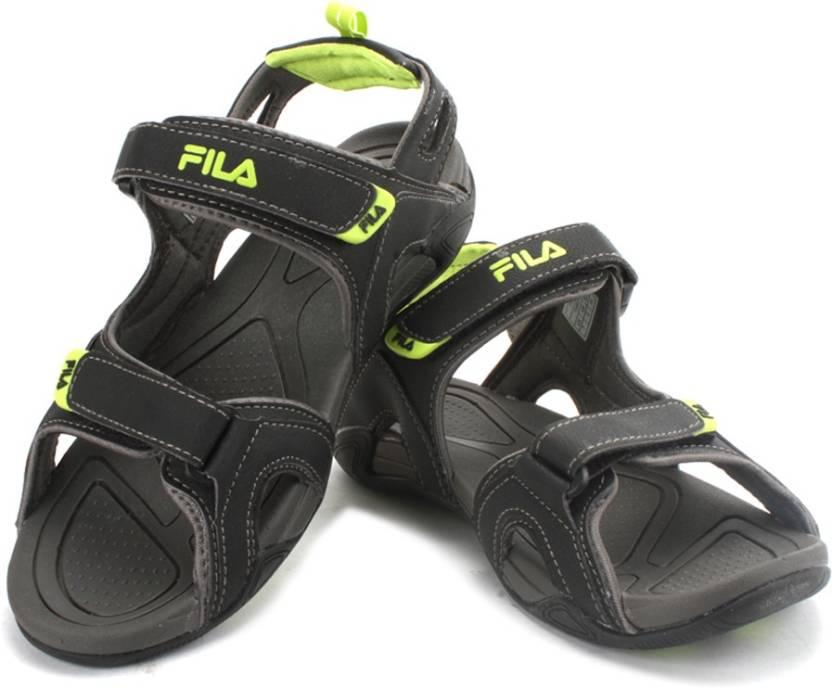 f6592098f Fila Men BLK GRN Sandals - Buy BLK GRN Color Fila Men BLK GRN Sandals  Online at Best Price - Shop Online for Footwears in India