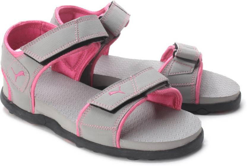 f49e42dbd4e Puma Women MOONSTURK-AURORA PINK Sports Sandals - Buy Black ...