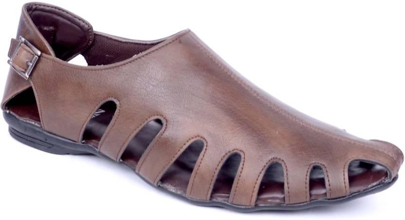 fc1de42d2b8d Peponi Men Brown Sandals - Buy Brown Color Peponi Men Brown Sandals Online  at Best Price - Shop Online for Footwears in India