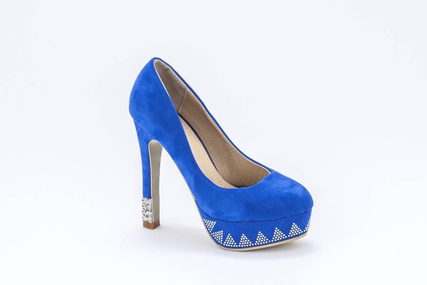 362b3982b9f6 Nina Feliz Women BLUE Heels - Buy BLUE Color Nina Feliz Women BLUE Heels  Online at Best Price - Shop Online for Footwears in India