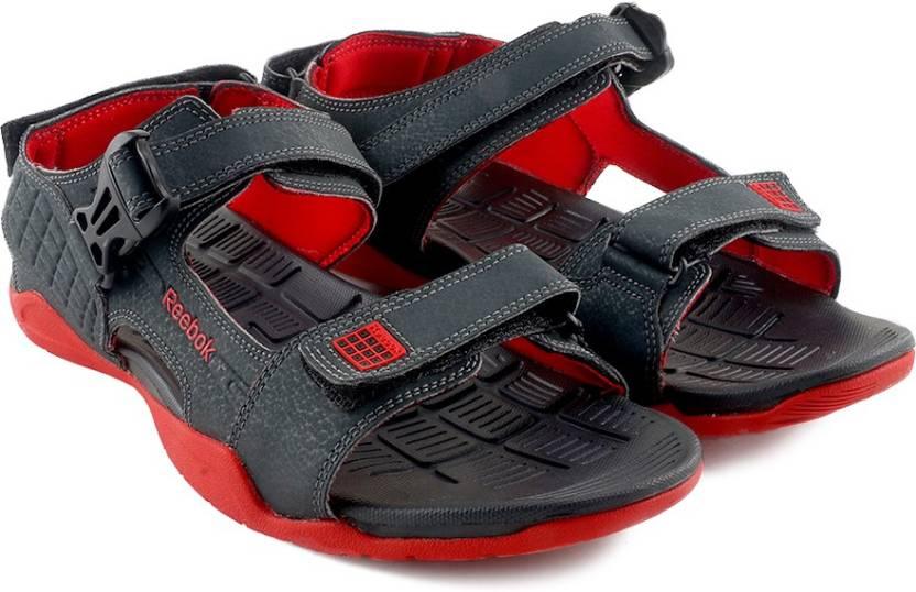 230cda207552 REEBOK Men GRAVEL BLK RED Sports Sandals - Buy GRAVEL BLK RED Color REEBOK  Men GRAVEL BLK RED Sports Sandals Online at Best Price - Shop Online for ...