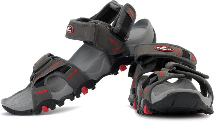 7417a90e375165 Fsports Men Grey Red Sports Sandals - Buy Grey Red Color Fsports Men Grey Red  Sports Sandals Online at Best Price - Shop Online for Footwears in India ...