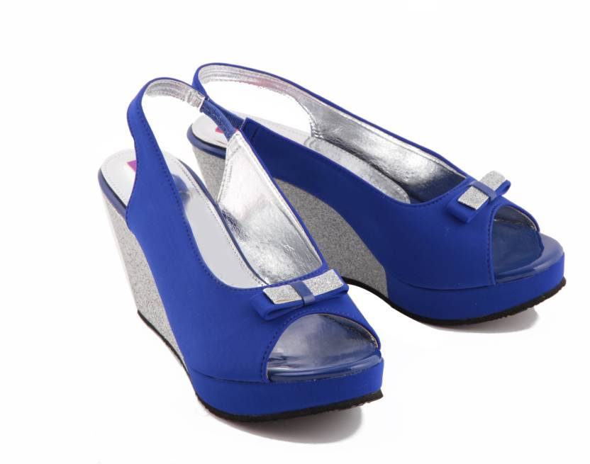 3c0c0a78698 Fiorella Women Blue Wedges - Buy Blue Color Fiorella Women Blue Wedges  Online at Best Price - Shop Online for Footwears in India