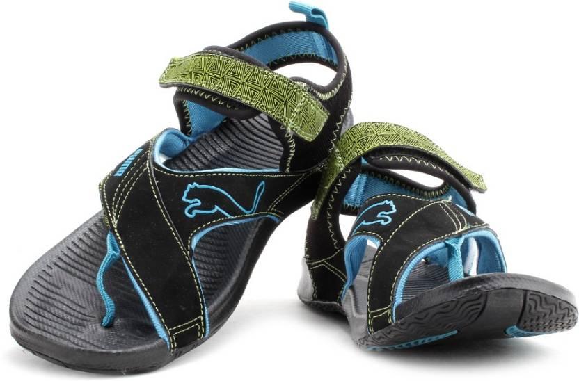 7fd669a570b7 Puma Men black-dark shadow-lime punch-fluo blue Sports Sandals - Buy black-dark  shadow-lime punch-fluo blue Color Puma Men black-dark shadow-lime  punch-fluo ...