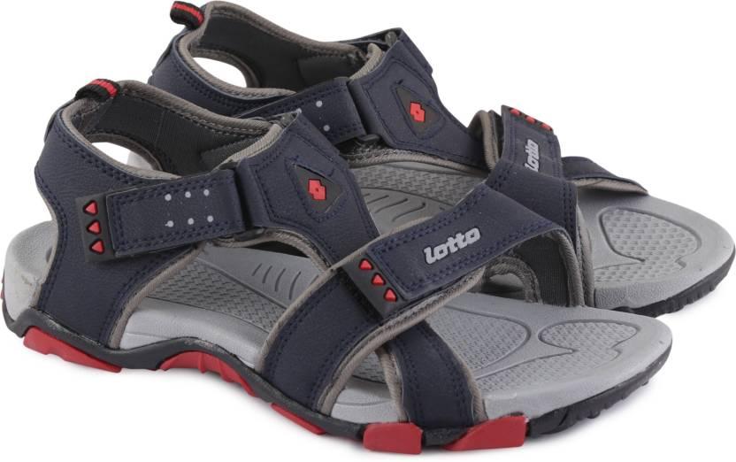 cb170ef9c535 Lotto Men Grey Navy Sandals - Buy Grey Navy Color Lotto Men Grey Navy Sandals  Online at Best Price - Shop Online for Footwears in India