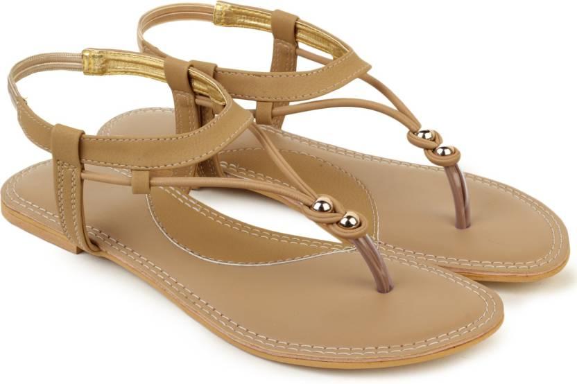 Shezone Women Beige Flats