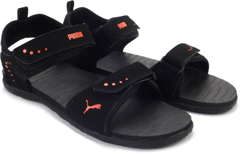 7eb568f1e77f77 Puma Men Black-VermillionOrange Sports Sandals - Buy Puma Black-Vermillion  Orange Color Puma Men Black-VermillionOrange Sports Sandals Online at Best  Price ...