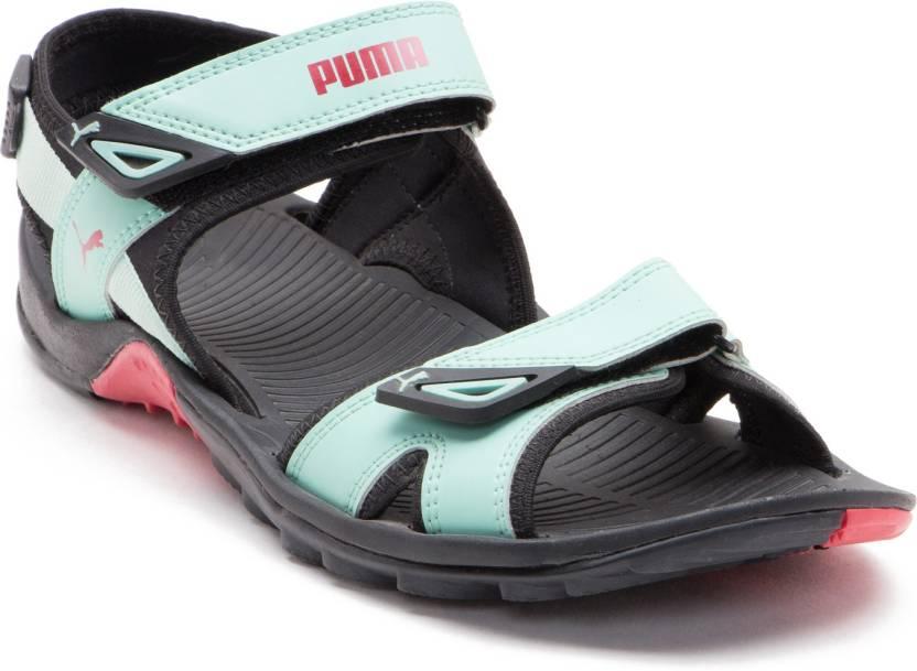 c88b298850fe Puma Men Black Sandals - Buy Black