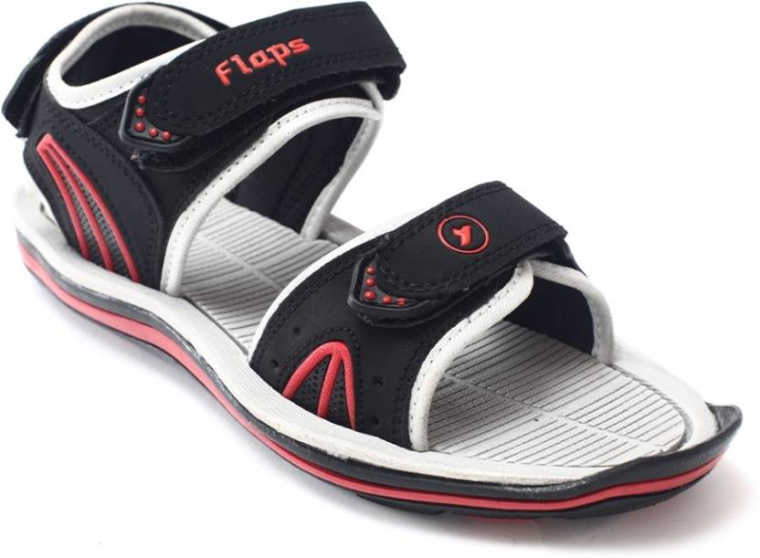 fb658dd734fcc Flaps Men Black Sandals - Buy Black Color Flaps Men Black Sandals Online at  Best Price - Shop Online for Footwears in India