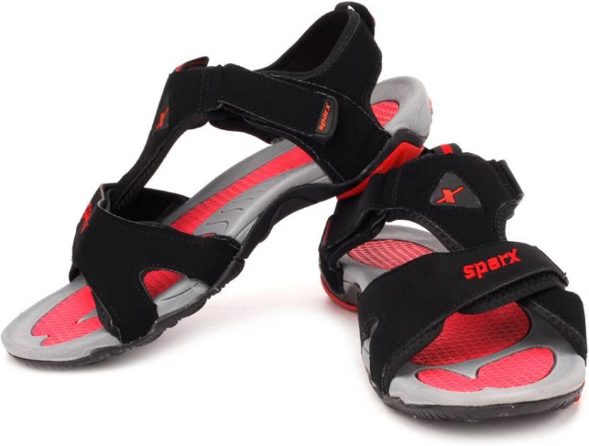 Sparx Men Black Red Sports Sandals Buy Black Red Color