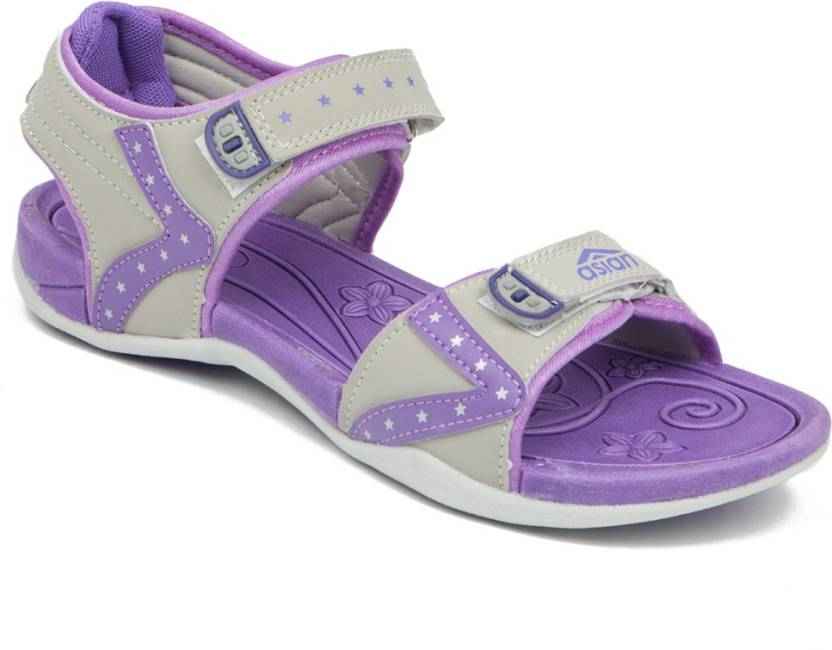 7fcdceee282 Asian Women PURPLE Sports Sandals - Buy PURPLE Color Asian Women PURPLE Sports  Sandals Online at Best Price - Shop Online for Footwears in India