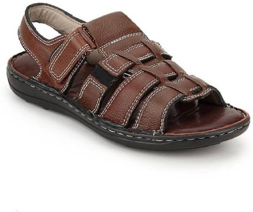 4bd0173c6b05e0 Leather Stylish Men Brown Sandals - Buy Brown Color Leather Stylish Men  Brown Sandals Online at Best Price - Shop Online for Footwears in India