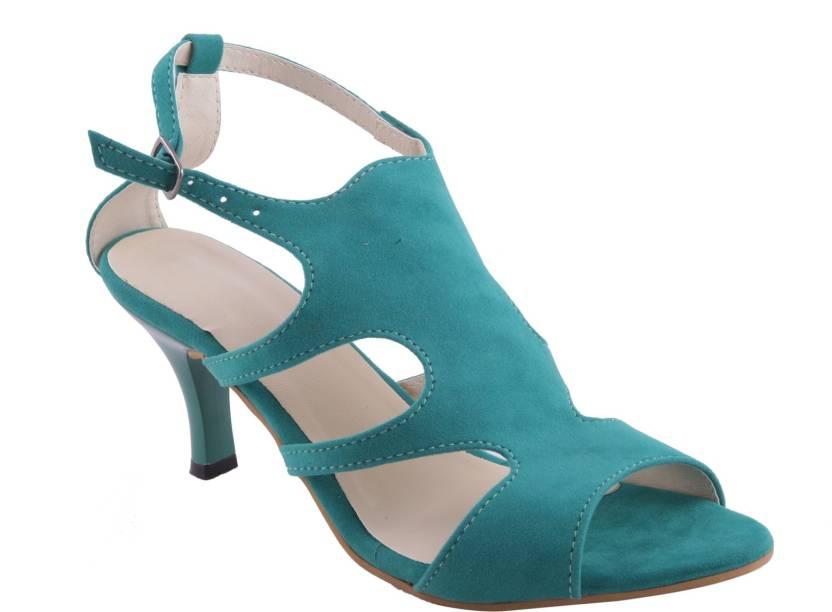 fb9d584e057 Adorn Women Green Heels - Buy Green Color Adorn Women Green Heels Online at  Best Price - Shop Online for Footwears in India
