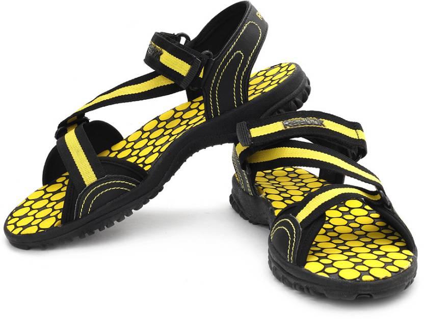 Reebok Men Black, Yellow Sports Sandals