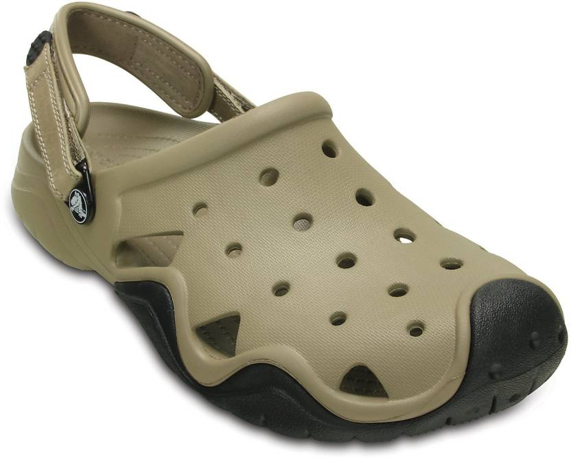 b9cec6184a33 Crocs Men Brown Sandals - Buy 202251-284 Color Crocs Men Brown Sandals  Online at Best Price - Shop Online for Footwears in India